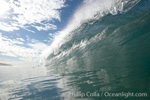 Breaking wave, South Carlsbad State Beach, Ponto, morning, winter. California, USA, natural history stock photograph, photo id 14789