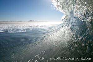 Surf, wave, winter, morning, Ponto, South Carlsbad. California, USA, natural history stock photograph, photo id 14986