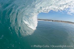 Breaking wave, Ponto, South Carlsbad, California. Ponto, Carlsbad, California, USA, natural history stock photograph, photo id 17397