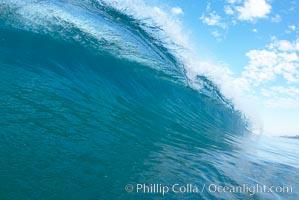 Breaking wave, Ponto, South Carlsbad, California. USA, natural history stock photograph, photo id 17402