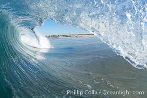Breaking wave, Ponto, South Carlsbad. Ponto, Carlsbad, California, USA, natural history stock photograph, photo id 17681