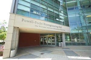 Powell-Focht Bioengineering Hall building, the Whitaker Institute of Biomedical Engineering, Jacobs School of Engineering, University of California, San Diego (UCSD). La Jolla, USA, natural history stock photograph, photo id 20856