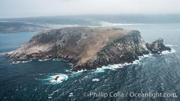 Prince Island, San Miguel Island, aerial photograph
