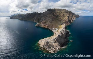 Punta Alta and La Cueva, Baja California, Sea of Cortez, aerial photograph