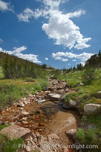 Rafferty Creek along the John Muir Trail, on approach to Vogelsang High Sierra Camp in Yosemite's high country, Yosemite National Park, California