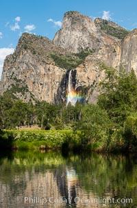 Rainbow in Bridalveil Falls, Yosemite National Park