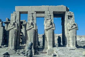 Ramesseum. Luxor, Egypt, natural history stock photograph, photo id 02586