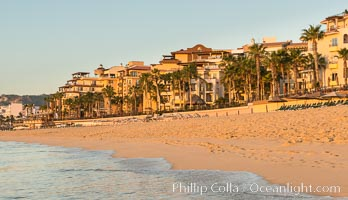 Resort hotels on the beach in Cabo San Lucas. Cabo San Lucas, Baja California, Mexico, natural history stock photograph, photo id 28954