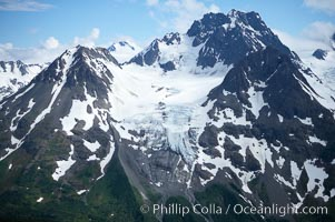 Glacier and rocky peaks, Resurrection Mountains