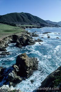 Rocky Point and Highway 1. Big Sur, California, USA, natural history stock photograph, photo id 02054