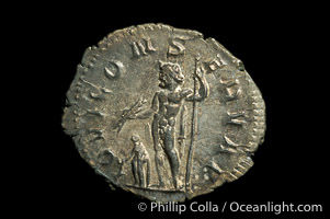Roman emperor Aemillian (253 A.D.), depicted on ancient Roman coin (silver, denom/type: Antoninianus)