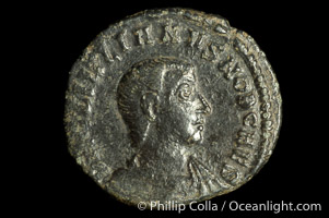 Roman emperor Julian II (355-363 A.D.), depicted on ancient Roman coin (bronze, denom/type: AE4) (Reverse: SPES REPVBLICE VM49; VB2.)