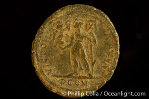 Roman emperor Magnus Maximus (383-388 A.D.), depicted on ancient Roman coin (bronze, denom/type: AE2)