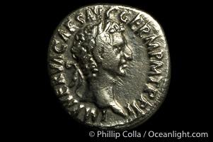 Roman emperor Nerva (96-98 A.D.), depicted on ancient Roman coin (silver, denom/type: Denarius) (Denarius, VF/F. Obverse: IMP NERVA CAES AVG GERM P M TR P II. Reverse: IMP II COS IIII P P, Fortuna stg. Left.)