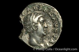 Roman emperor Otho (69 A.D.), depicted on ancient Roman coin (silver, denom/type: Denarius)
