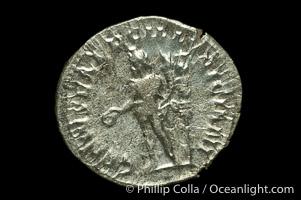 Roman emperor Trajan Decius (249-251 A.D.), depicted on ancient Roman coin (silver, denom/type: Antoninianus) (Antoninianus, EF. Obverse: IMP C M Q TRAIANVS DECIVS AVG. Reverse: GENIVS EXERSILLYRICIANI)