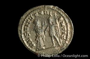 Roman emperor Valerian I (253-260 A.D.), depicted on ancient Roman coin (billion, denom/type: Antoninianus) (Antoninianus, VF+. Obverse: IMP C P LIC VALERIANVS PF AVG. Reverse: RESTITVT ORIENTIS)