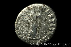Roman emperor Vitellius (69 A.D.), depicted on ancient Roman coin (silver, denom/type: Denarius) (Ar , Denarius Obverse: A VITELLIUS GERM IMP AVG TR P Reverse: LIBERTAS RESTITVTA)
