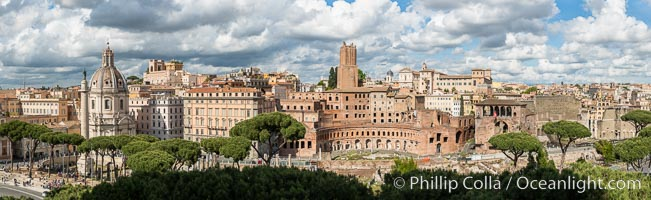 Roman Forum builds, along Via dei Fori Imperiali, Rome