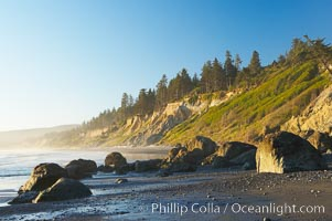 Ruby Beach, sunset. Olympic National Park, Washington, USA, natural history stock photograph, photo id 13810