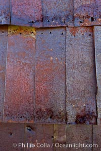 Rusted old metal siding, Kelley Building on Green Street, Bodie State Historical Park, California