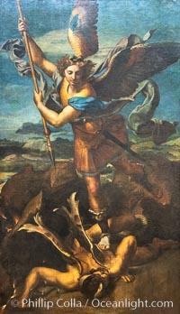 Saint Michael Vanquishing Satan, Rafael, Mus�e du Louvre, Musee du Louvre, Paris, France