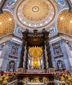 Saint Peter's Basilica interior, Vatican City, Rome, Italy