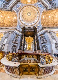 Saint Peter's Basilica interior, Vatican City. Vatican City, Rome, Italy, natural history stock photograph, photo id 35588
