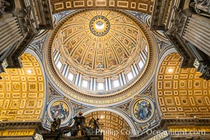Saint Peter's Basilica interior, Vatican City. Vatican City, Rome, Italy, natural history stock photograph, photo id 35589