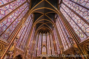 La Sainte-Chapelle, The Holy Chapel, is one of the only surviving buildings of the Capetian royal palace on the Ile de la Cite in the heart of Paris, France. It was commissioned by King Louis IX of France to house his collection of Passion Relics, including the Crown of Thorns - one of the most important relics in medieval Christendom