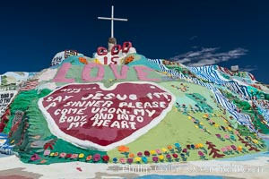 Salvation Mountain, the life work of Leonard Knight, near the town of Niland, California