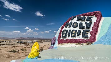 Salvation Mountain, the life work of Leonard Knight, near the town of Niland, California. Salvation Mountain, Niland, California, USA, natural history stock photograph, photo id 29211