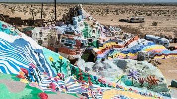 Image 29213, Salvation Mountain, the life work of Leonard Knight, near the town of Niland, California. Salvation Mountain, Niland, California, USA, Phillip Colla, all rights reserved worldwide. Keywords: california, jesus, leonard knight, niland, salvation mountain, usa.