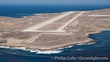Navy airstrip landing strip on San Clemente Island