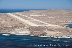 Navy airstrip landing strip on San Clemente Island