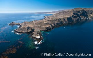San Clemente Island Pyramid Head, the distinctive pyramid shaped southern end of the island. San Clemente Island, California, USA, natural history stock photograph, photo id 26413
