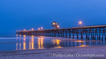 San Clemente Pier at dawn, San Clemente, California