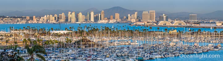 San Diego City Skyline viewed from Point Loma. California, USA, natural history stock photograph, photo id 29114