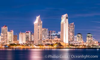 San Diego City Skyline at Night