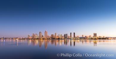 San Diego City Skyline at Sunrise