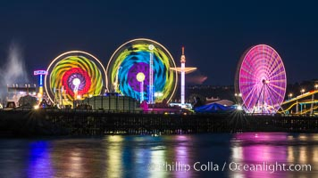 San Diego County Fair at night.  Del Mar Fair at dusk, San Dieguito Lagoon in foreground. Del Mar, California, USA, natural history stock photograph, photo id 31027