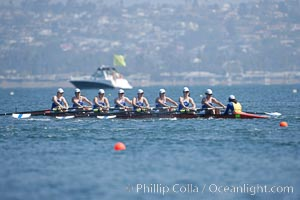 SUNY Buffalo women race in the finals of the Women's Cal Cup final, 2007 San Diego Crew Classic. Mission Bay, California, USA, natural history stock photograph, photo id 18672
