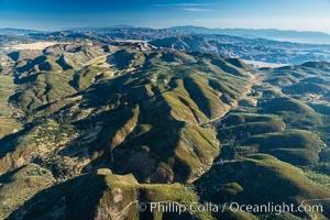 San Diego mountains, with the Sawtooth Mountain Range in the distance, near Mount Laguna
