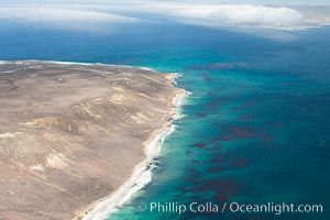 San Miguel Island west end, aerial photograph. California, USA, natural history stock photograph, photo id 29374