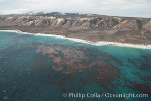 San Miguel Island, aerial photograph. San Miguel Island, California, USA, natural history stock photograph, photo id 29376