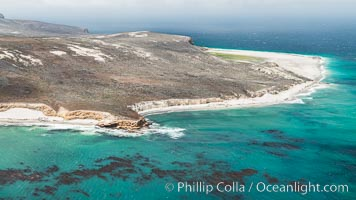 San Miguel Island west end, aerial photograph. San Miguel Island, California, USA, natural history stock photograph, photo id 29377