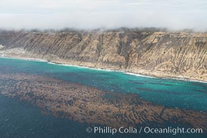 San Miguel Island south side, aerial photograph. San Miguel Island, California, USA, natural history stock photograph, photo id 29383