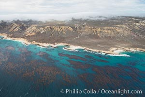 San Miguel Island south side, aerial photograph. California, USA, natural history stock photograph, photo id 29384