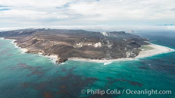 San Miguel Island west end, aerial photograph