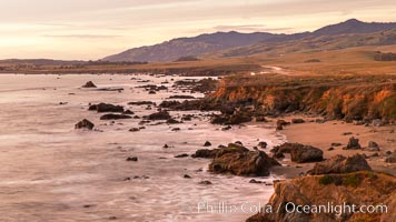 San Simeon Coastline at Sunset